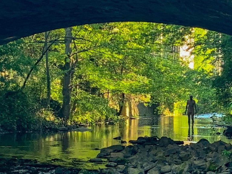 Gormley Statue Water of Leith